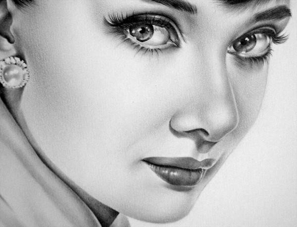 Drawn portrait audrey hepburn And Shop IleanaHunter Art Drawings