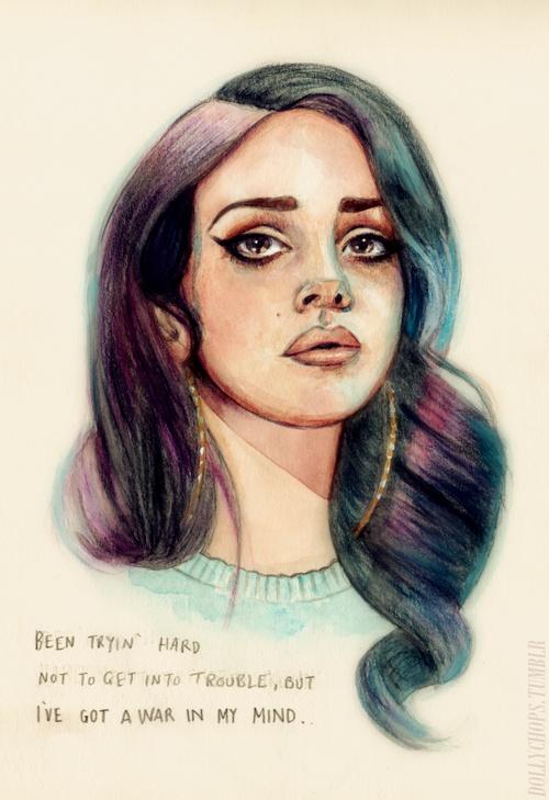 Drawn celebrity lana del rey Del 236 Helen Pinterest best