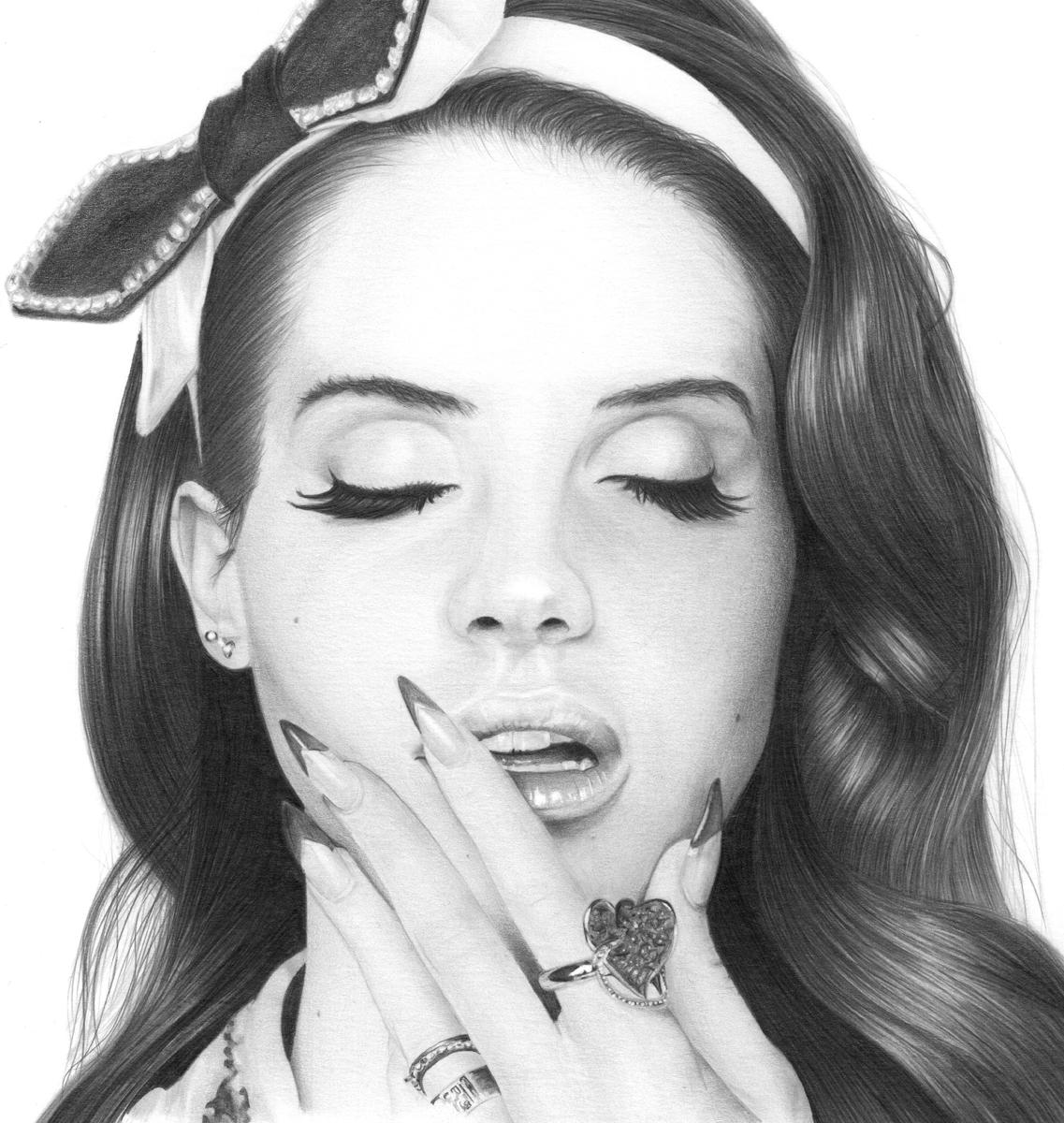 Drawn celebrity lana del rey Rey Cool Art Rey Lana