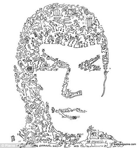 Drawn photos person Godet: with Emmanuel Spok Pierre