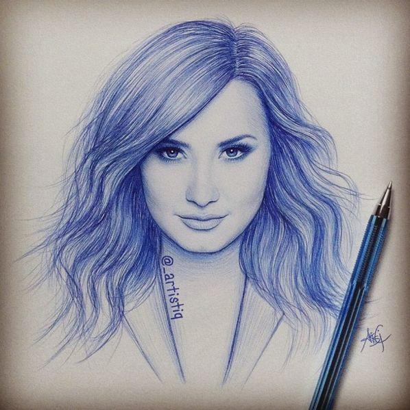 Drawn celebrity pen #10