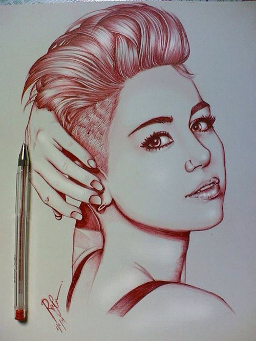 Drawn celebrity pen #8
