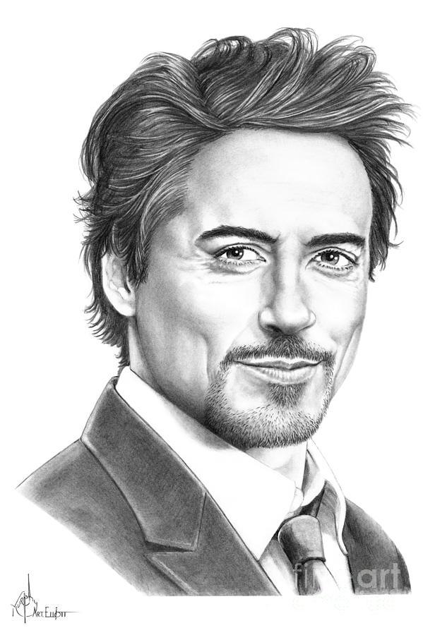 Drawn portrait famous artist People downey Robert Downey Pencil