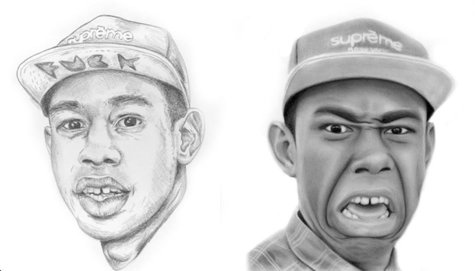 Drawn celebrity progress #4