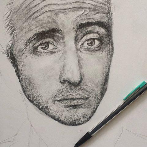 Drawn celebrity progress #3