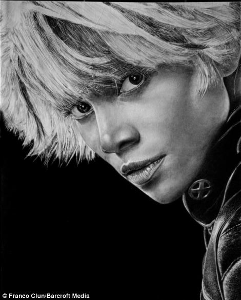 Drawn celebrity real life Detailed The ever portrait you