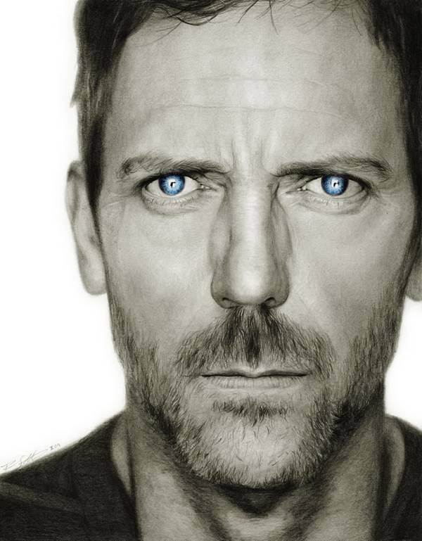 Drawn portrait realistic Celebrity Hand 20 Realistic