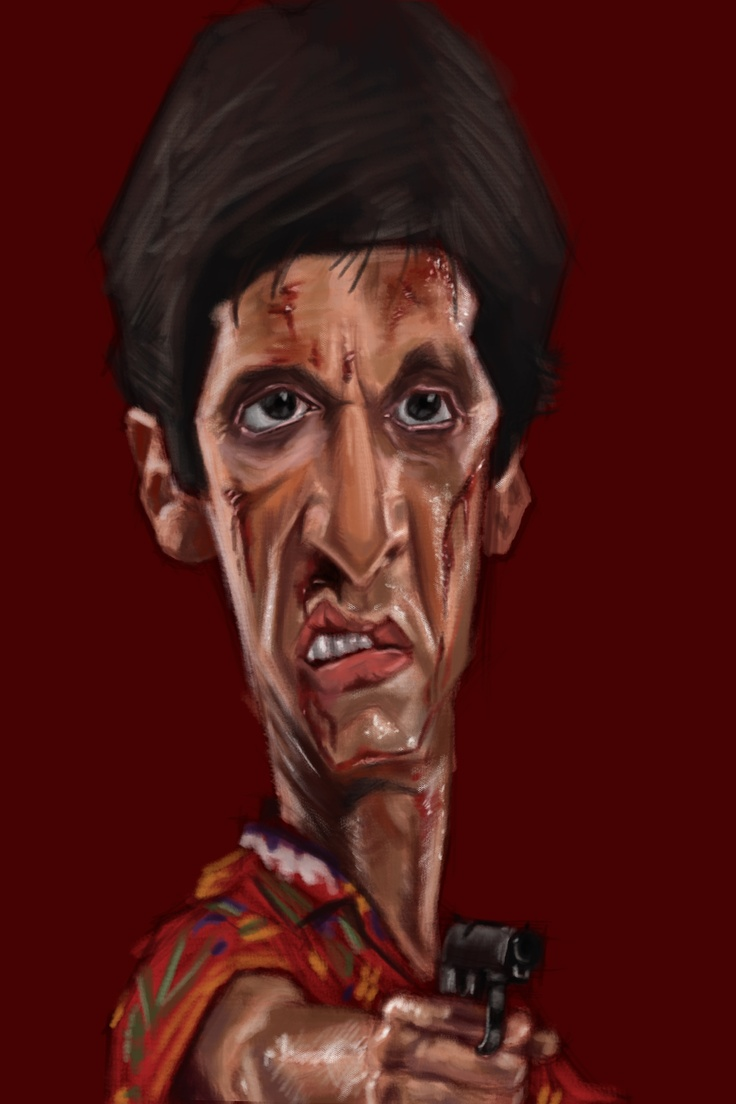 Drawn celebrity scar face #2