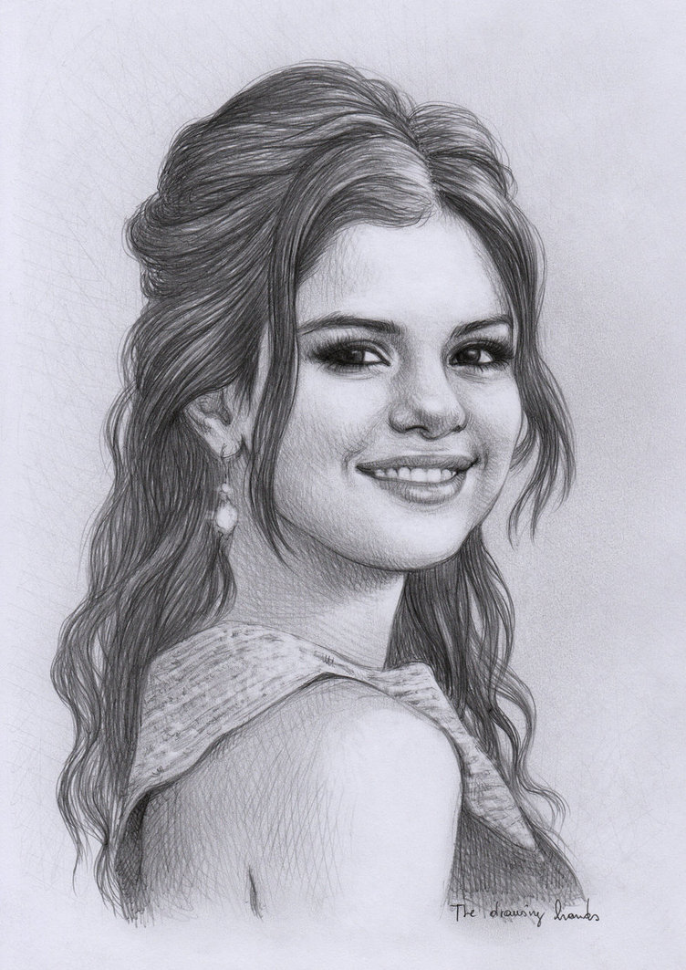 Drawn portrait selena gomez To thedrawinghands Need learn Drawing
