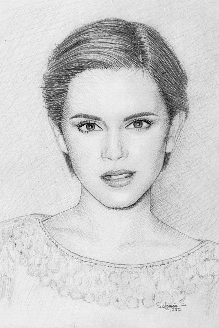 Drawn portrait deviantart By deviantart Watson Emma deviantART