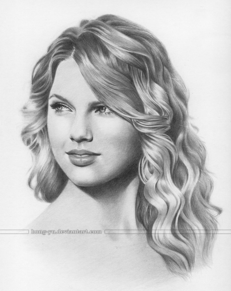 Drawn portrait taylor swift Taylor Swift Art  Drawing