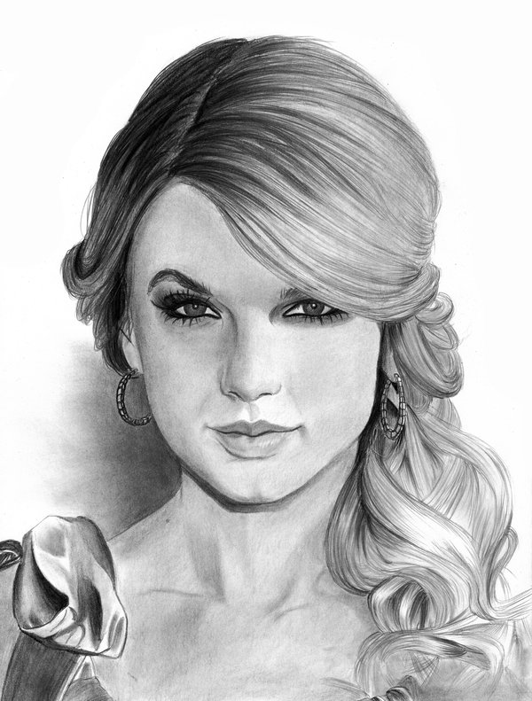 Drawn portrait taylor swift Cfischer83 Swift Taylor Draw DeviantArt