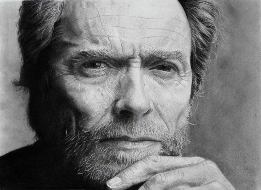 Drawn portrait sketch Eastwood deviantart Pinterest DRAWINGS images