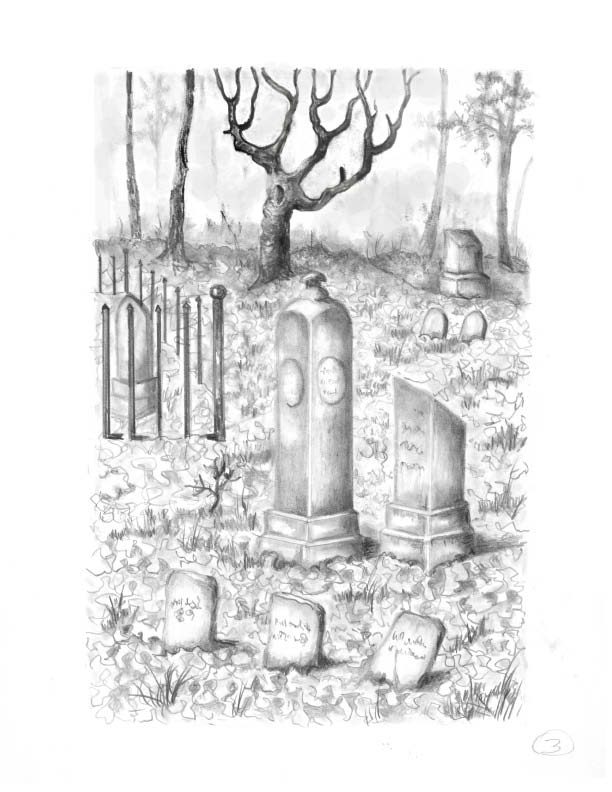 Drawn graveyard real The by Cheeney Cemetery Kinsey