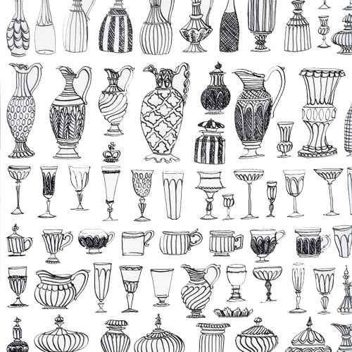 Drawn vase greek pottery #14