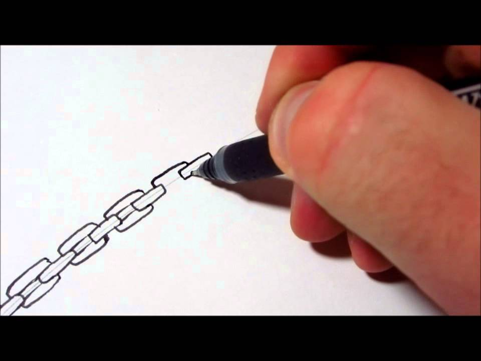 Drawn chain freedom Chains Draw YouTube How To