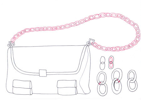 Drawn purse  fashion by Fashion chains""
