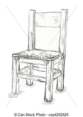 Drawn chair Chair drawn  chair hand