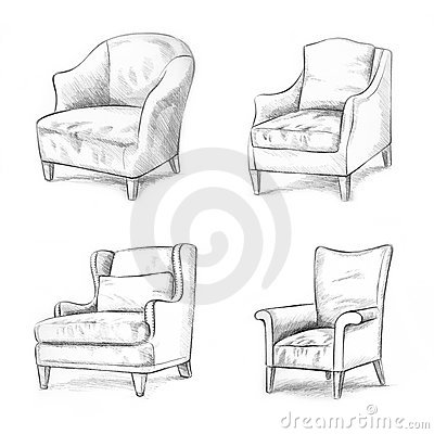 Drawn sofa made Pinterest Sketches أثاث sketch