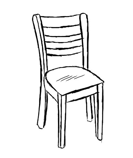 Drawn chair Drawings Pinterest A drawing Dance