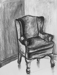 Drawn chair charcoal Art! Charcoal drawing Chair chair