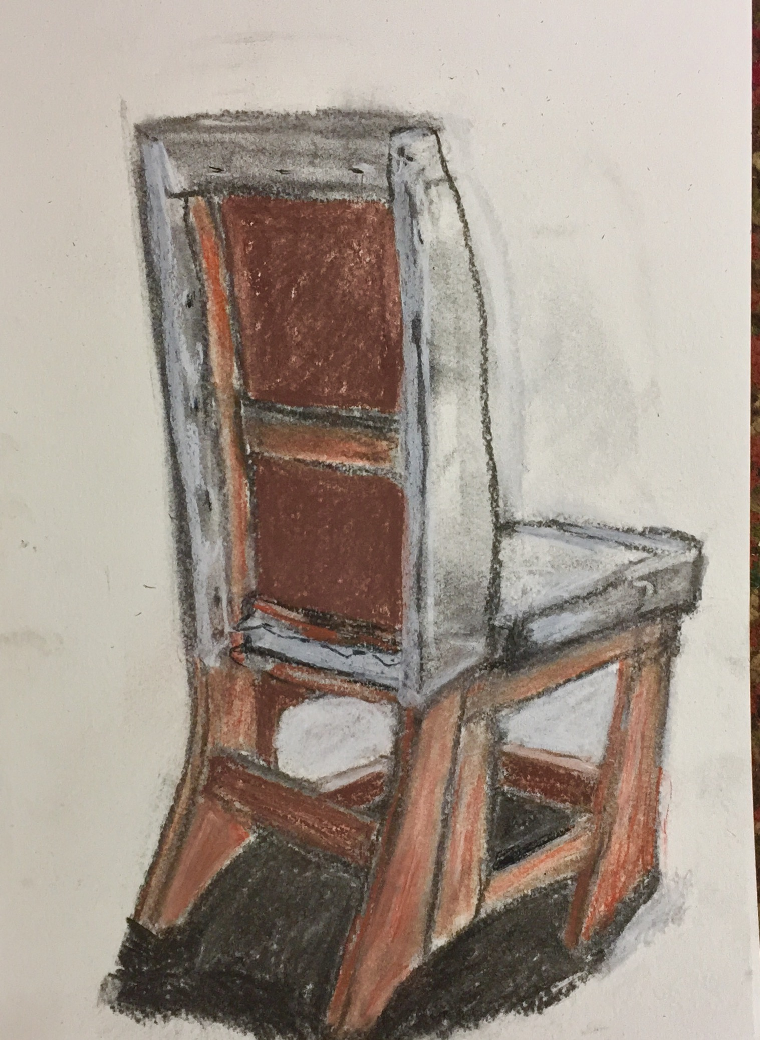 Drawn chair charcoal Spiro Charcoal Vine with drawn
