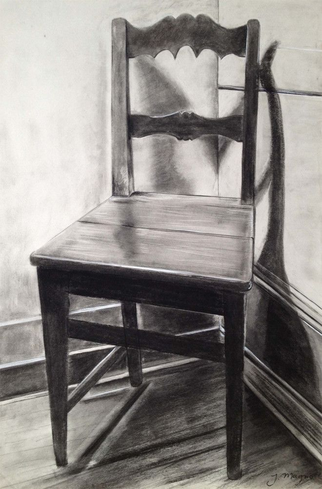 Drawn chair charcoal Pinterest Charcoal Magnotti best Jack