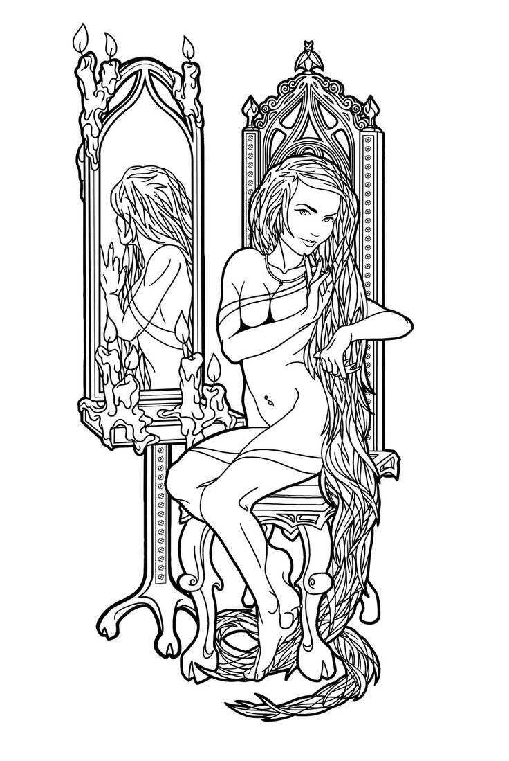 Drawn chair coloring page On adult coloring adult Pin