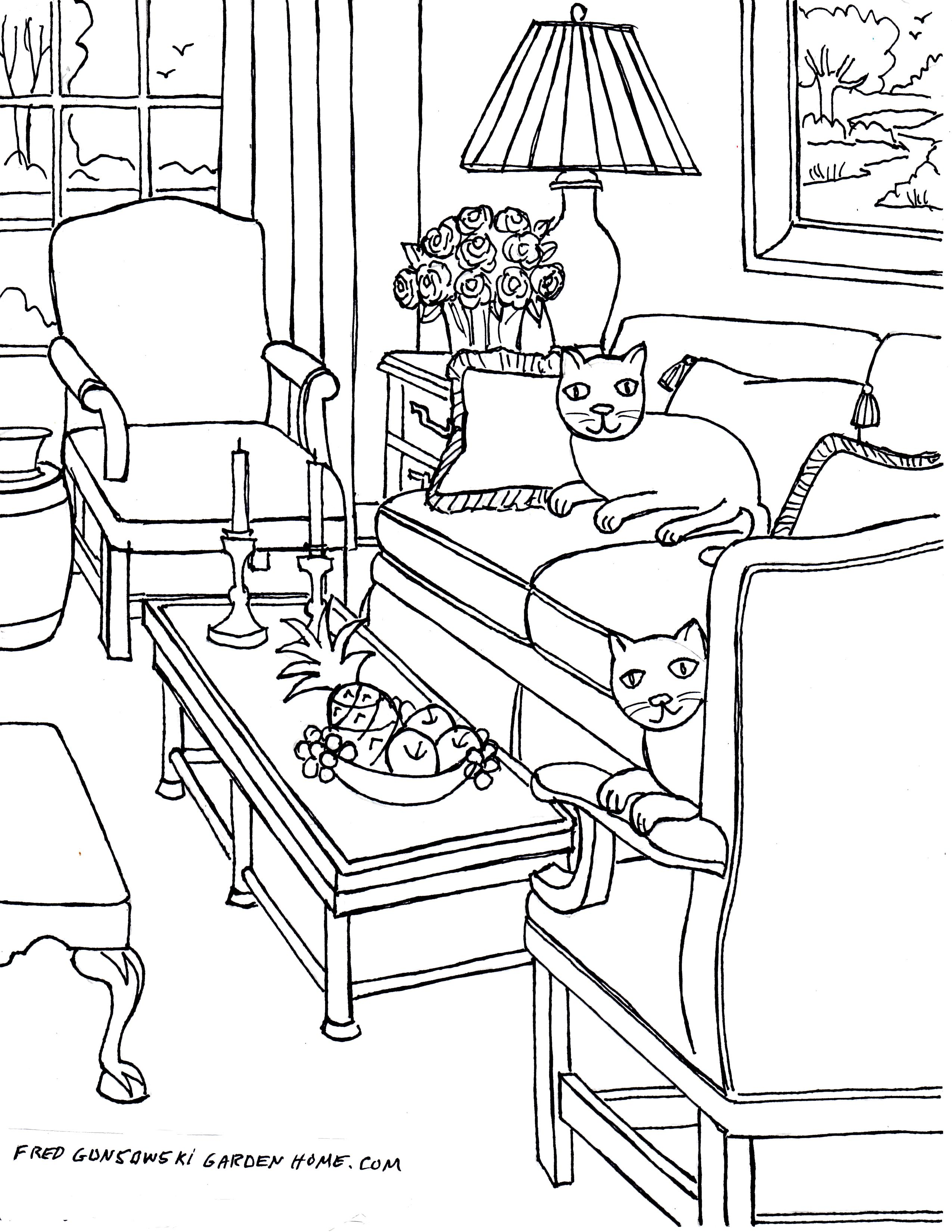 Drawn chair coloring page Some  Drawings pages img398