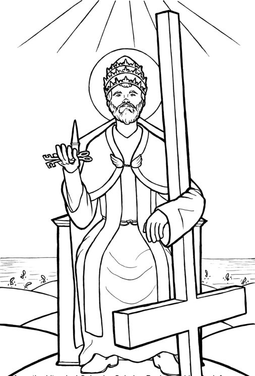 Drawn chair coloring page To Pinterest #printables images #Catholic