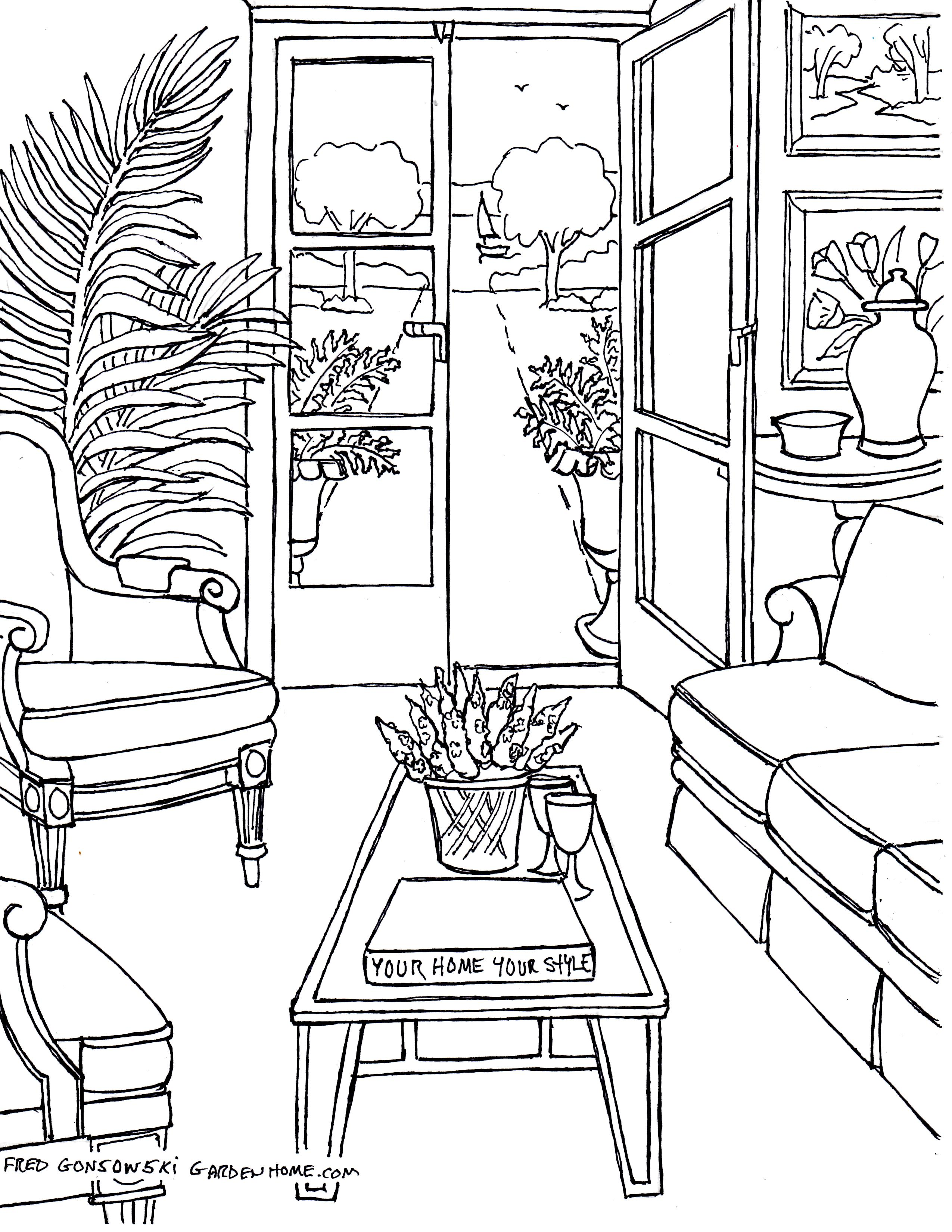 Drawn chair coloring page Some  Drawings pages img405