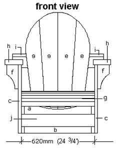 Drawn chair elevation Elevation elevation of Cape plan