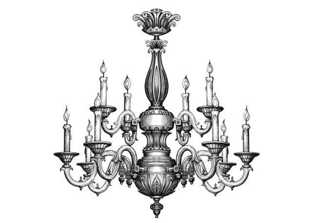 Drawn chandelier #3