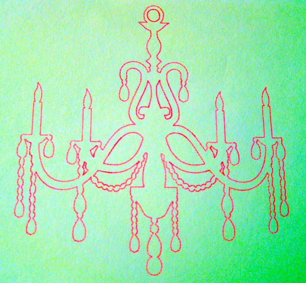 Drawn chandelier #12