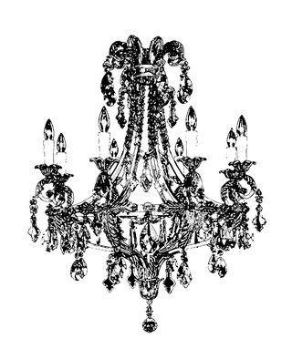 Drawn chandelier #9