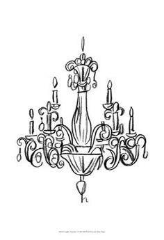 Drawn chandelier #4