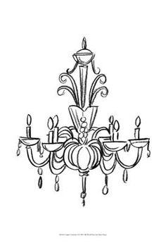 Drawn chandelier #7