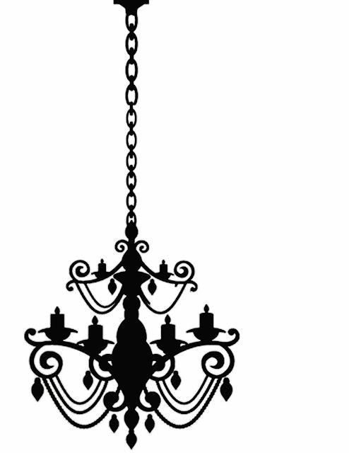 Drawn chandelier fancy chandelier Freebies Chandelier Freebies Silhouettes! Doodlecraft: