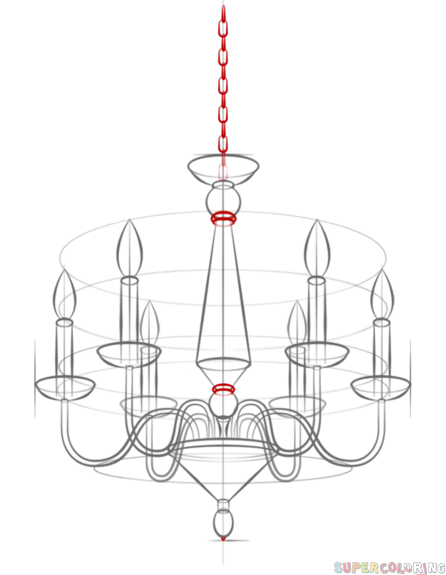 Drawn chandelier fancy chandelier AddThis draw Step How a