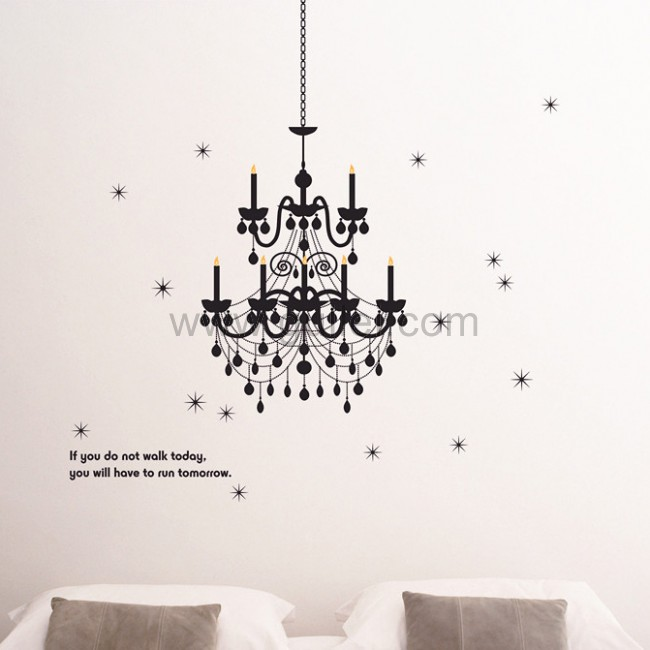 Drawn chandelier wall decal Drawing for Chandelier Best Drawing