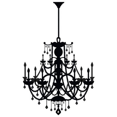 Drawn chandelier wall decal Sticker wall wall wall Wall