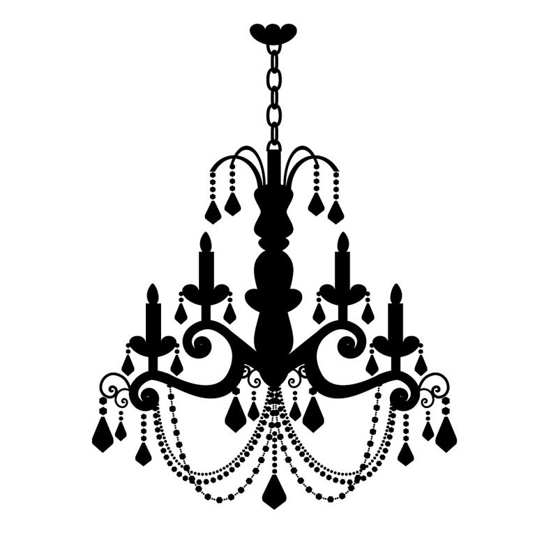 Drawn chandelier wall decal Popular For Decals Wall Vinyl