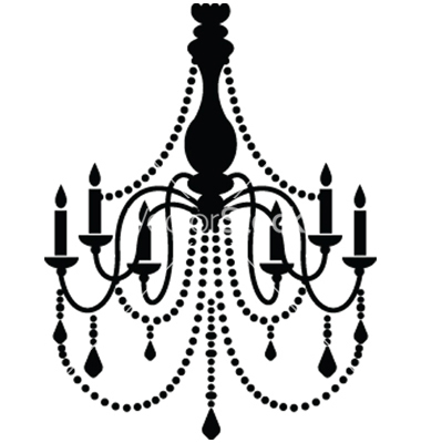 Drawn chandelier wall decal  and by ma_rish VectorStock®