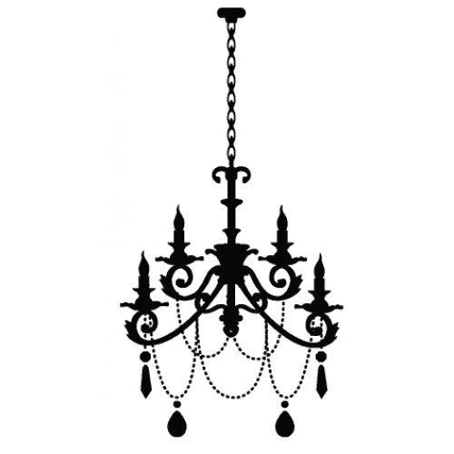 Drawn chandelier wall decal Wall decal Petunia: Chandelier Miss