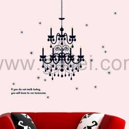 Drawn chandelier wall decal Personalized Room Wall Decal Drawing