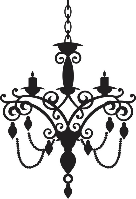 Drawn chandelier wall decal $15 Etsy Wall Decal Etsy