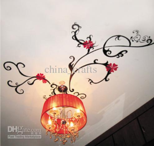 Drawn chandelier wall decal Wall Art Room image Drawing