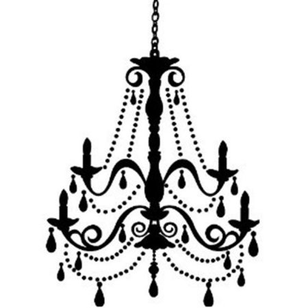 Drawn chandelier wall decal Peel Gems Decal RoomMates &