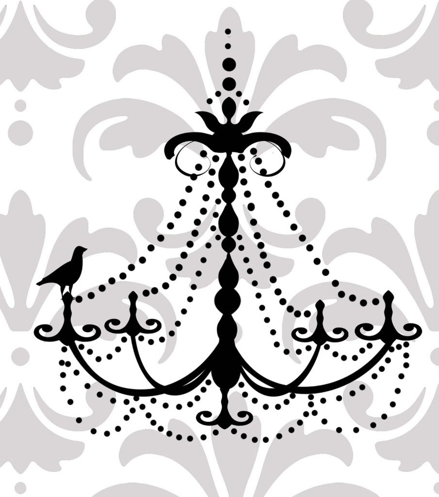 Drawn chandelier wall decal Chain Extra Decal Chandelier Ideas