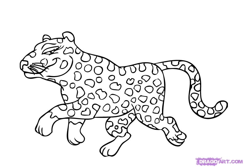 Drawn pice cheetah To Cartoon draw to a